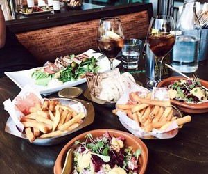 food, lunch, and fries image