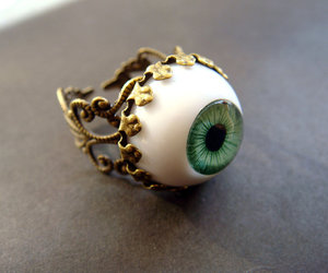 ring, eye, and green image
