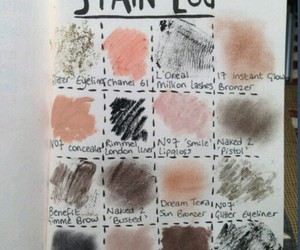 makeup, stain log, and lipstick image