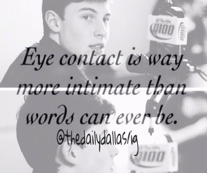 eye contact, love quotes, and cameron dallas image