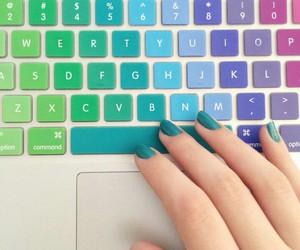 nails, keyboard, and colors image