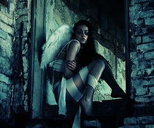 angel, dark, and photography image