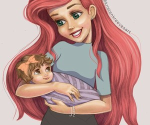 disney, ariel, and baby image