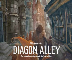 harry potter, wallpaper, and diagon alley image