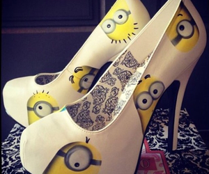 shoes, minions, and heels image