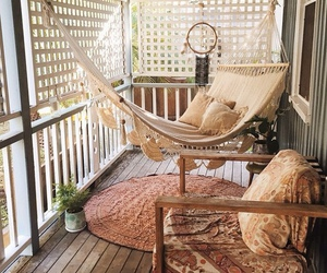 home, hammock, and boho image