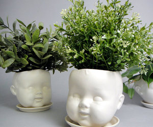 art, planter, and baby image