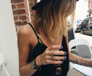 black, hair, and Hot image