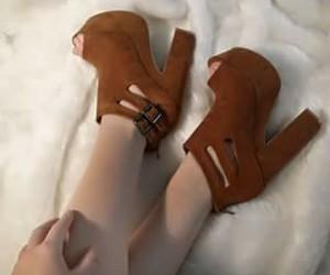 brown, fashion, and heel image