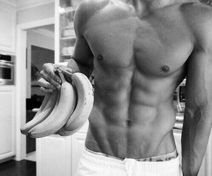 abs, Hottie, and banana image