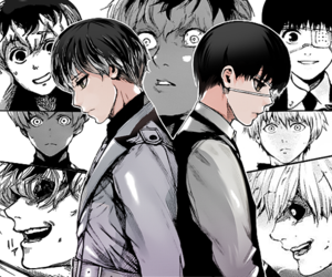 manga, kaneki, and boy image