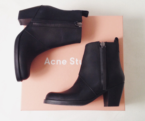 acne, ankle boots, and boots image