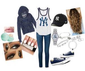 baseball, clothing, and fashion image