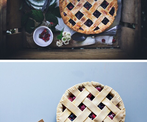 bake, blackberry, and blueberry image