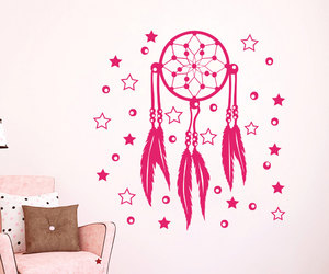 dream catcher, stars, and wall decals image