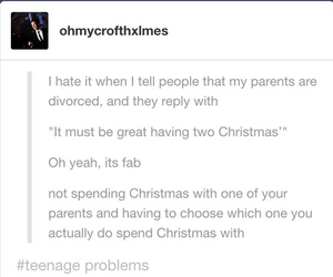 christmas, divorce, and fml image