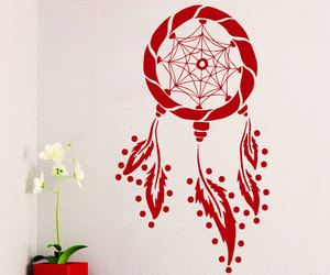 bedroom decor, dream catcher, and wall decals image