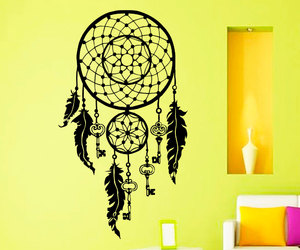 dream catcher, wall decals, and indian amulet image
