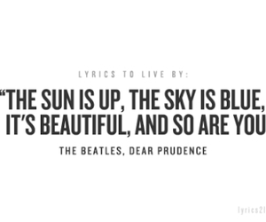Lyrics, the beatles, and dear prudence image