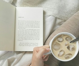 books, coffee, and john green image