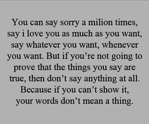 love, quotes, and sorry image