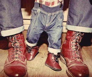 boys, father, and grunge image