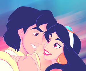 aladdin, disney, and love image