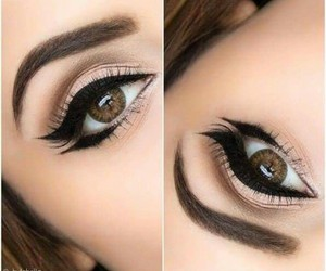 beauty, make up, and brown image