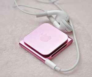pink, apple, and music image