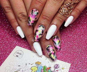 manicure, nail art, and summer image