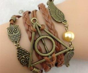 owl, harry potter, and bracelet image