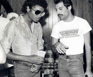 Freddie Mercury and micheal jackson image