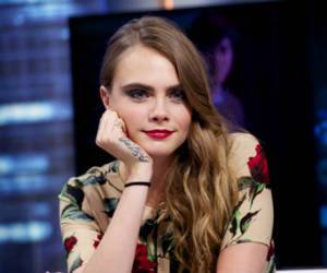 red and cara delevingne image