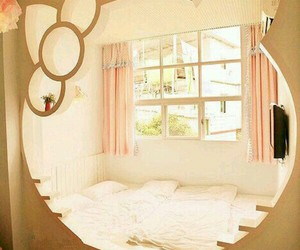 hello kitty, cute, and room image