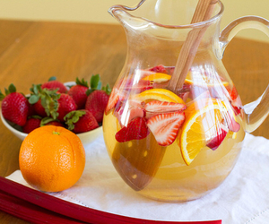 drink, fruit, and strawberry image