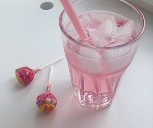 pink, drink, and lollipop image