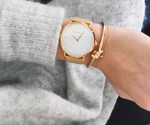 fashion, watch, and gold image