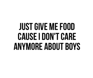 boys, food, and quote image