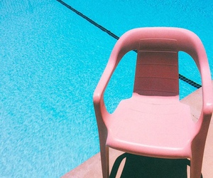 pink, blue, and pool image