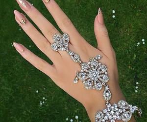 nails, diamond, and jewelry image