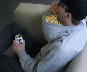 funny and popcorn image