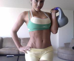 fitness, fitness model, and rosa acosta image