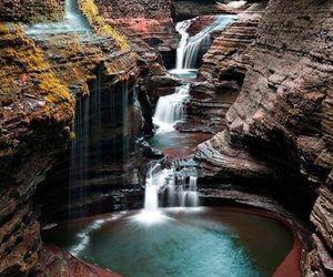 nature, waterfall, and new york image