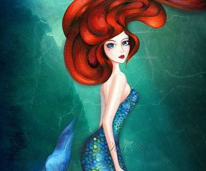 mermaid, ariel, and art image