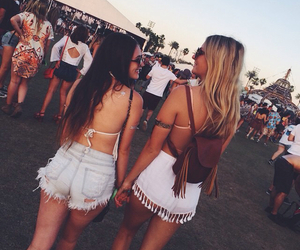 best friends, coachella, and brandy image