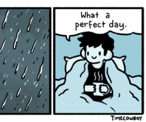 bed, rain, and best day image