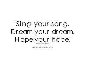 Dream, hope, and inspiration image