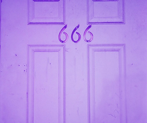 666, door, and satan image