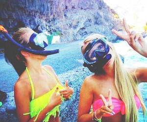 girl, summer, and best friends image