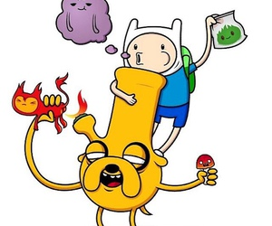 finn the human, adventure time, and jake the dog image